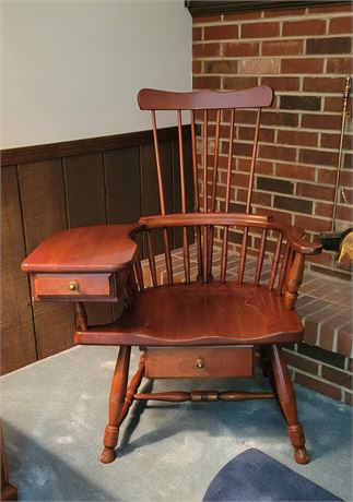 Windsor Writing Chair Comb Back Antique