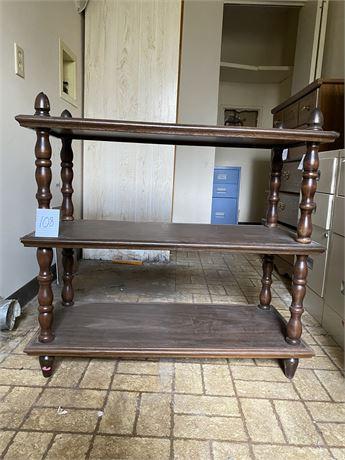 Vintage Wood Shelf Unit