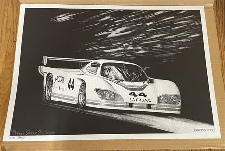 Limited Edition Signed and Numbered Jerry Gambaccini Jaguar 44 Print