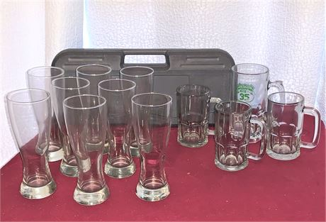 Food Network BBQ Set, Pilsner Glasses, and Beer Mugs