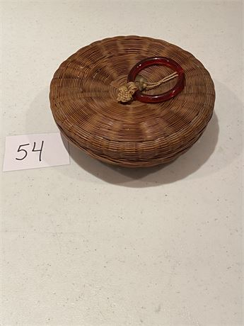 Antique Chinese Hand Woven Basket