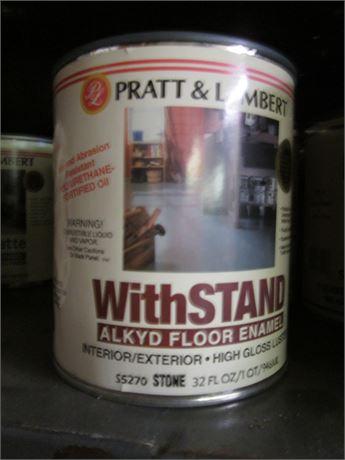 5 Qts Pratt & Lambert w/ Stand lkyd Floor Enamel High Gloss