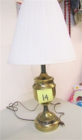 Gold Toned Table Lamp