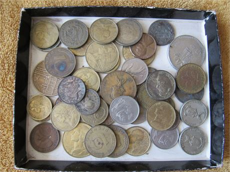 Foreign Coin Currency Lot