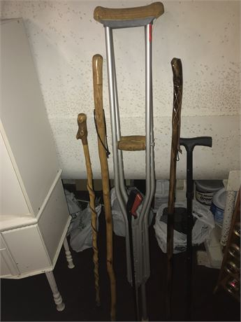 Walking Stick, Cane, Crutches and Grabber