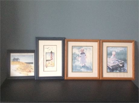 Four Pieces of Decorative Wall Art