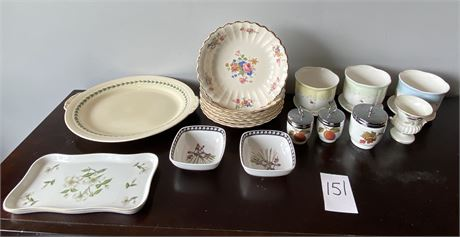 Miscellaneous China Including Limoges, Lenox, Royal Worcester, Etc.