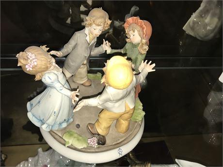 Vintage Capodimonte - Kids at Play Porcelain Figurine