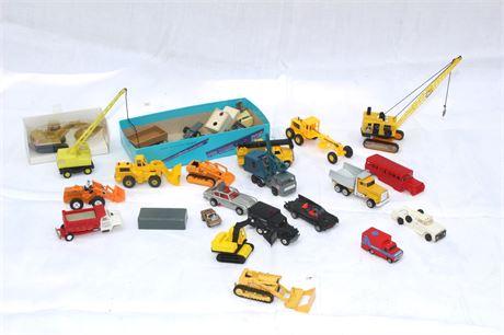 Construction Trucks,Toy Cars Group Lot Corgi-Matchbox- Wiking