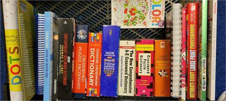 Crossword Books & Dictionaries, & Coloring Books