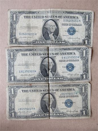 $1 US Silver Certificates