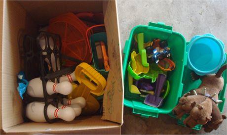 Box of Beach Toys