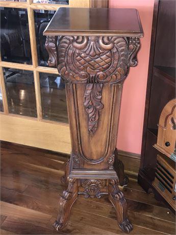 Finely Carved Wood Pedestal (2 of 2)