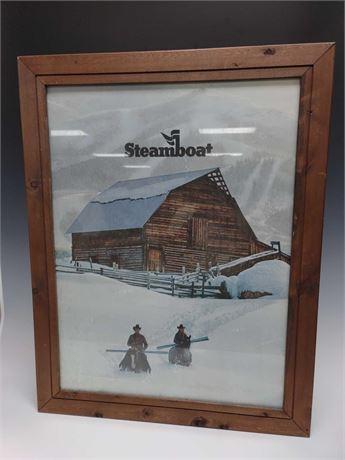 Steamboat Springs Colorado Ski Town Framed Poster