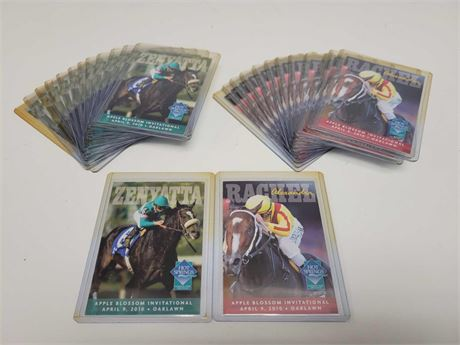 """Zenyatta Rachel Alexander """"Race of the Century"""" Cards (26) Horse Racing"""