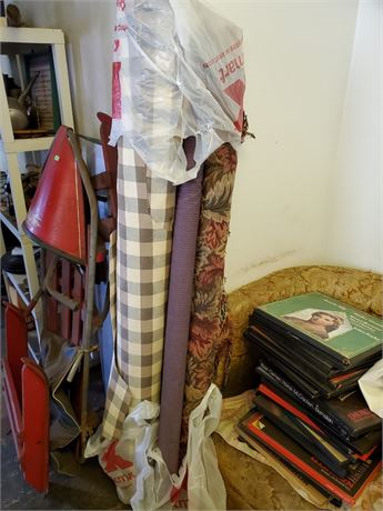 3 Rolls of Upholstery Fabric
