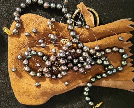 Imitation Black Pearl Costume Jewelry