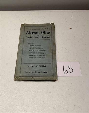 1922 Akron Map