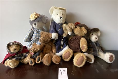 Boyds Bears Collector's Lot Including Two Limited Edition Bears with Stands
