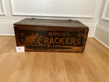 Antique Shipping Crate - Advertising - Marvin's Crackers