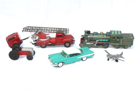 Tin and Pressed Steel Antique Toys Group Lot
