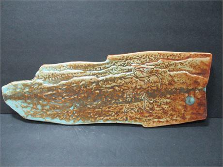 """Genuine DXC Oriental Fire Glazed Fancy Rare 14 1/2"""" Original Pottery"""