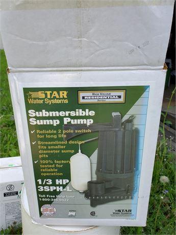 Star Water Systems 1/3HP Sump Pump NIB