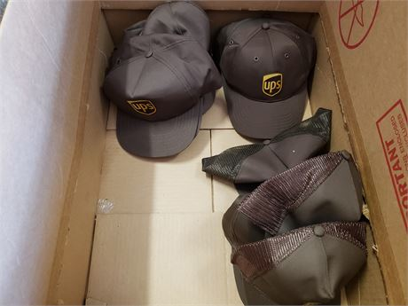 UPS Vest unknown size hats visors & hoods lot