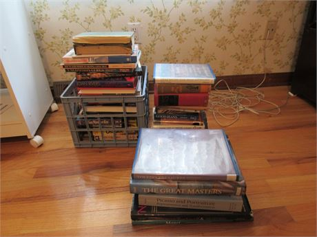 Book Lot: Coffee Table Display Books VHS Tapes