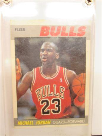 Authentic 1987-1988 Fleer Michael Jordan NBA Player Card