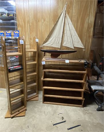 Basement Clean Out Lot w/ Model Sailboat, Cool Clamp by Hampton of Geneva, &
