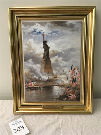 Statue of Liberty Bing & Grondahl Porcelain Painting