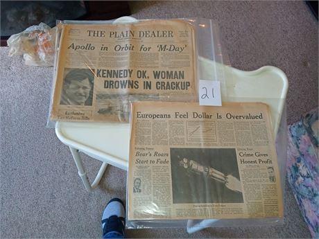 Newspaper from Apollo 11