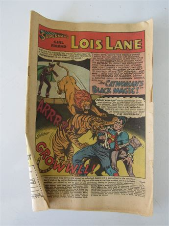 Superman's Girl Friend, Lois Lane #70 1966. No Cover