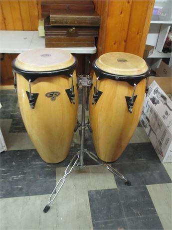 2 Professional Cosmic Percussion Conga Tall Bongo Drums