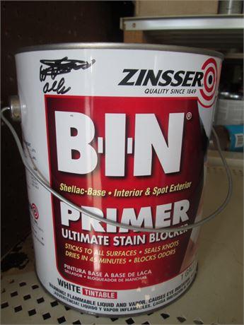 1 Gal Premium ZINSSER BIN Ultra Primer Stain Blocker White