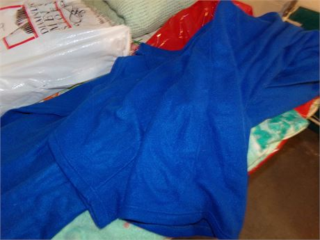 Ocean Themed Throw and Blue Snuggie Blanket