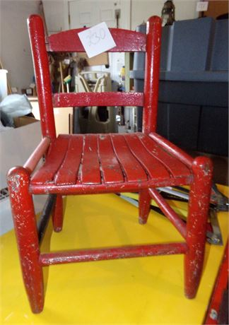 Vintage Child's Red Chair