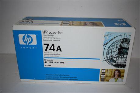 HP Laser Jet 74A Print Cartridge NEW IN BOX