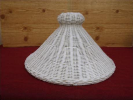 White Wicker Lamp Shade