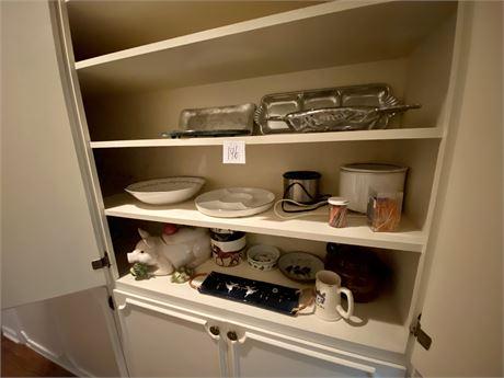 Hall Closet Clean Out Lot #3 including Wilton Armetale Platter