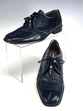Alligator Marco Vicci Blue Men's Dress Shoes