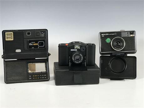 Minox 35 GL, Balda C and Kodak Disc 6000 Camera Lot