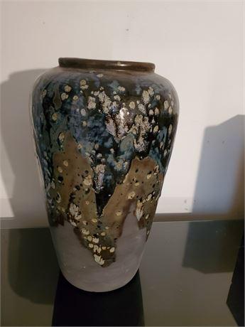 Pretty Glazed Pottery Vase