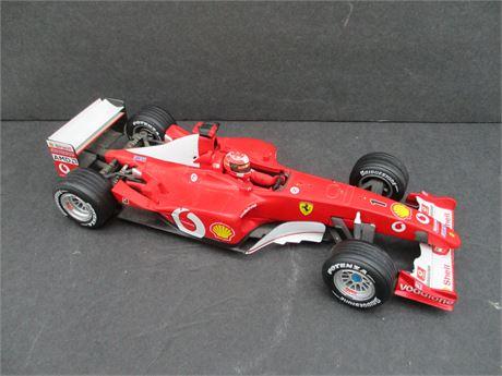 "2002 Mattel Inc 10"" Hot Wheels Ferrari Michael Schumacher Die Cast"
