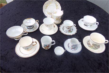 Souvenir Tea cups and saucers