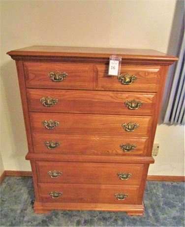 Vaughn-Basset Furniture Oak Five Drawer Chest