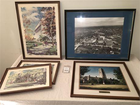 Framed University of Michigan Art Prints and University of Toledo