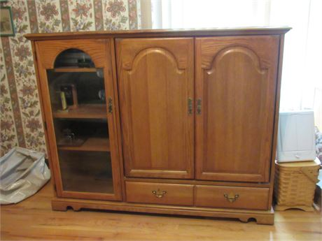 Broyhill Oak Entertainment Center. Contents NOT Included