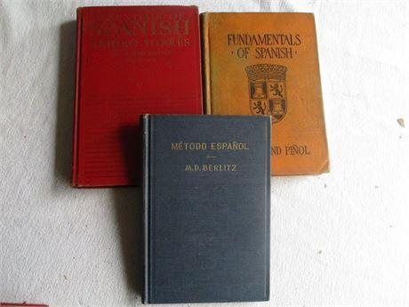 3 Vintage Spanish Language & Methods Teaching Books